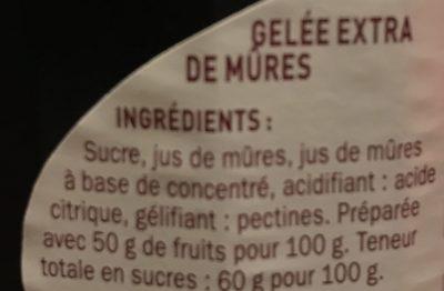 Gelée extra mûre - Ingredients