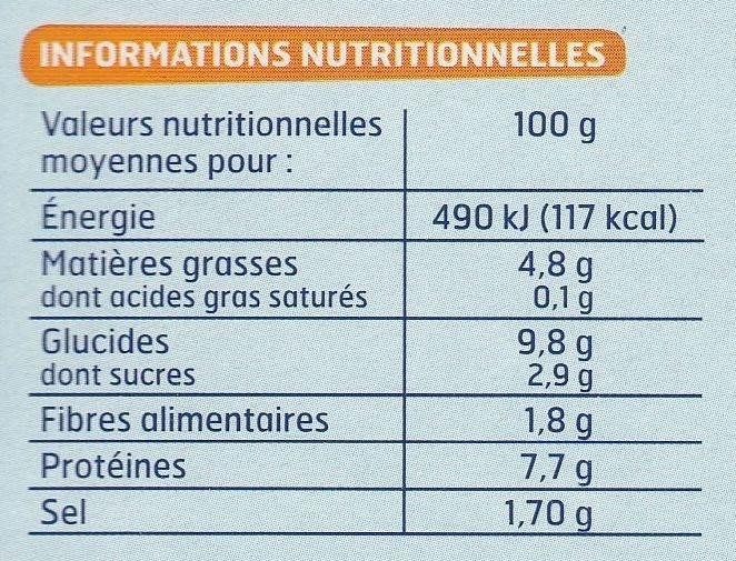 Batonnets de surimi x 12 - Informations nutritionnelles - fr