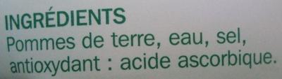 Pommes de terre - Ingredients