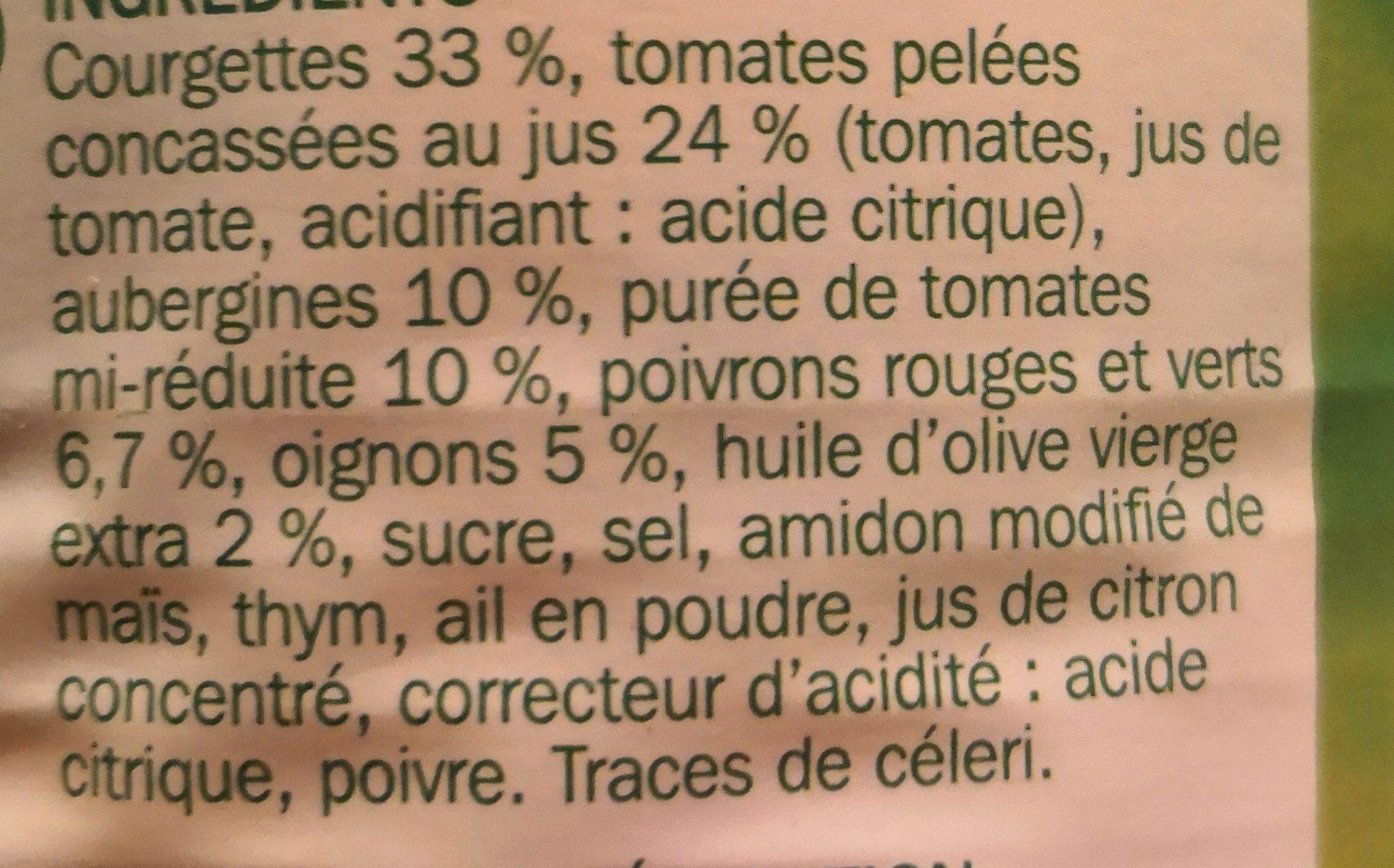 Ratatouille provencale 4/4 - Ingrédients - fr