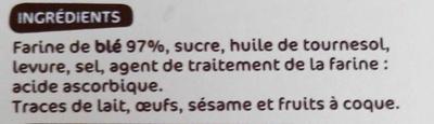 Biscottes x 100 - Ingredients - fr