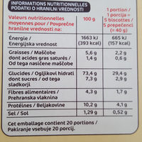 Biscottes x 100 - Nutrition facts - fr