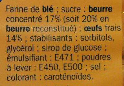 Madeleine longue pur beurre x16 - Ingrédients