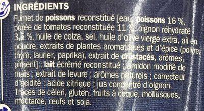 Soupe de poisson - Ingrédients