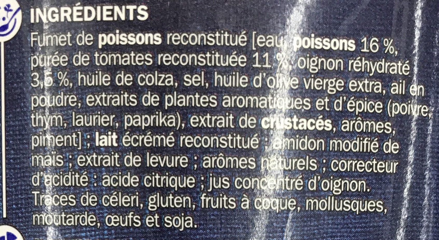 Soupe de poisson - Ingrédients - fr
