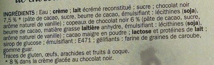 Crème glacée chocolat - Ingredients - fr