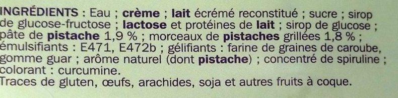Crème glacée pistache - Ingredients - fr
