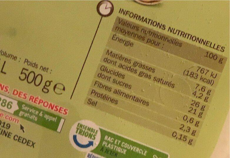 Crème glacée pistache - Nutrition facts - fr