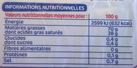 Matière grasse tartine et cuisson 70% - Informations nutritionnelles