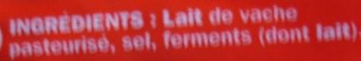 Emmental râpé 29% Mat. Gr. - Ingrédients - fr