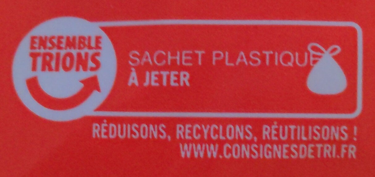 Emmental râpé 29% Mat. Gr. - Recycling instructions and/or packaging information - fr