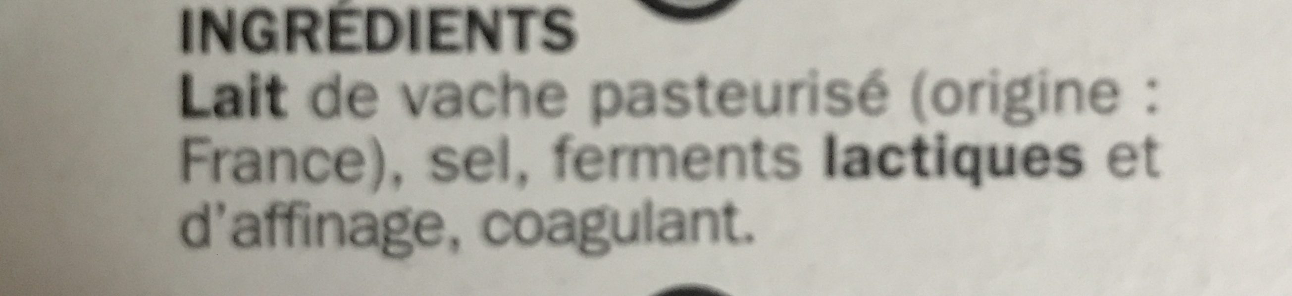 Coulommiers 24% Mat. Gr. - Ingredients - fr