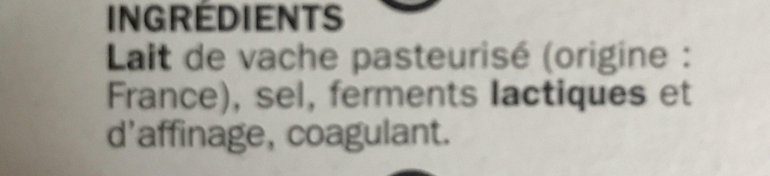 Coulommiers 24% Mat. Gr. - Ingrediënten - fr