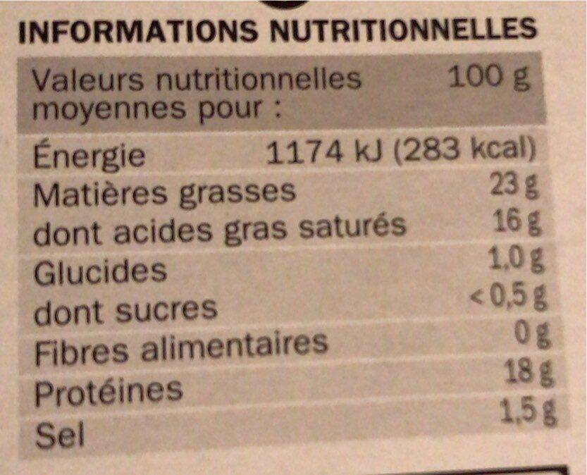 Coulommiers 24% Mat. Gr. - Voedingswaarden - fr