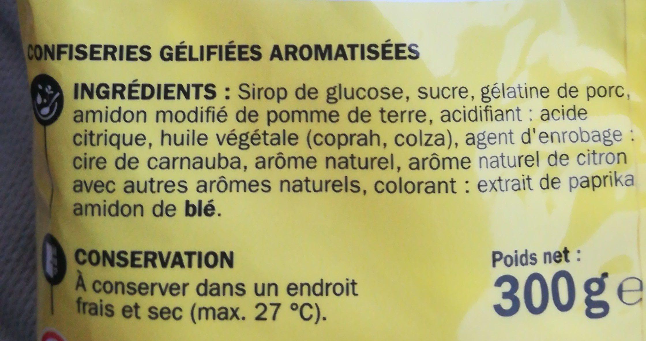 Gélifiés oeufs sur le plat - Ingredients - fr