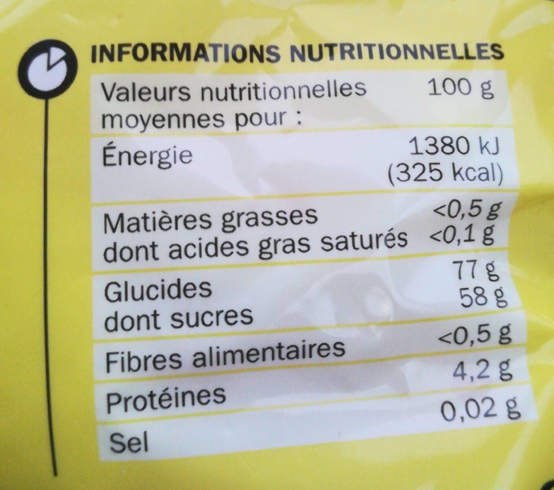 Gélifiés oeufs sur le plat - Nutrition facts - fr
