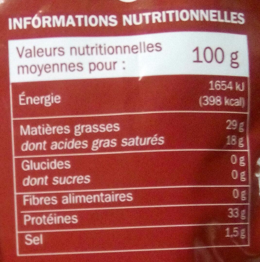 Grana padano râpé 32% Mat. Gr. - Nährwertangaben - fr
