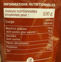 Grana padano râpé 32% Mat. Gr. - Informations nutritionnelles - fr