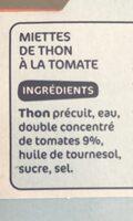 Miettes de thon à la tomate - Ingredienti - fr