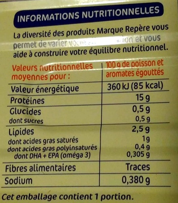 Filets maquereaux aromatisé muscadet - Nutrition facts - fr