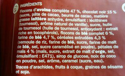 Muesli croustillant chocolat - Ingrédients - fr