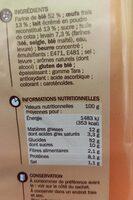 Pains au lait x10 - Informazioni nutrizionali - fr