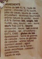 Pains au chocolat x 8 - Ingrédients