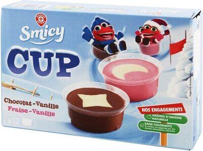 Pots vanille fraise chocolat x 12 - Product