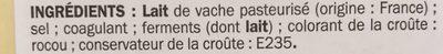 Raclette nature 26%mg - Ingrédients - fr