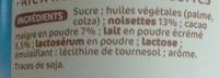 Nustikao - Pâte à tartiner aux noisettes - Ingredienti - fr