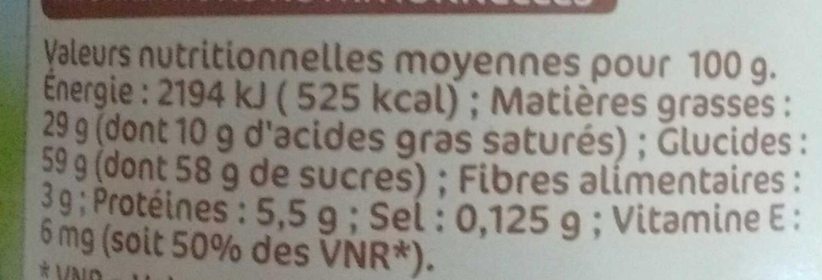Nustikao - Pâte à tartiner aux noisettes - Valori nutrizionali - fr