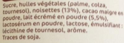 Pâte à tartiner - Ingrédients - fr