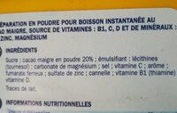 Préparation pour boisson instantanée - Ingrédients - fr