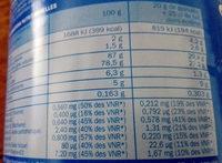 Préparation granulée instantanée - Nutrition facts