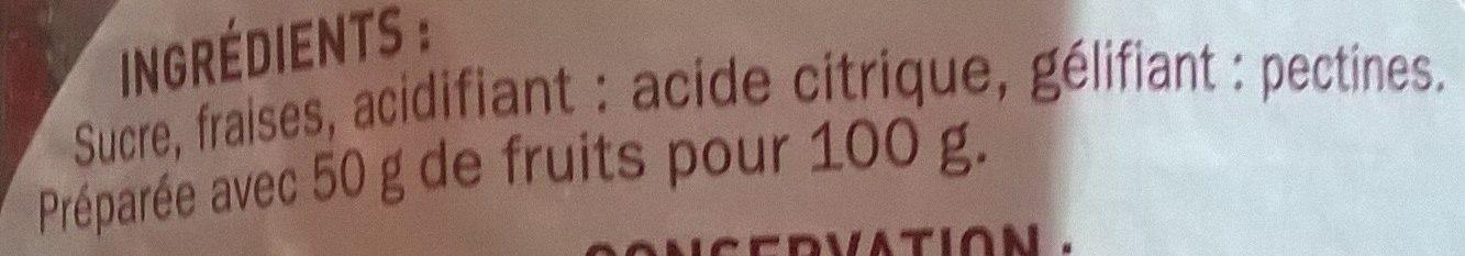 Confiture extra fraise mamie douceur 750 g e - Acide citrique leclerc ...