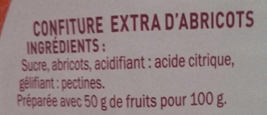 Confiture extra abricot - Ingrediënten - fr