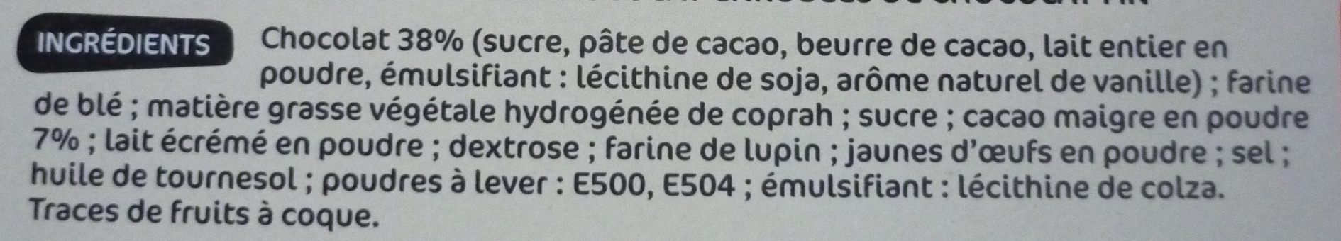 Gaufrettes enrobées chocolat - Ingredients - fr