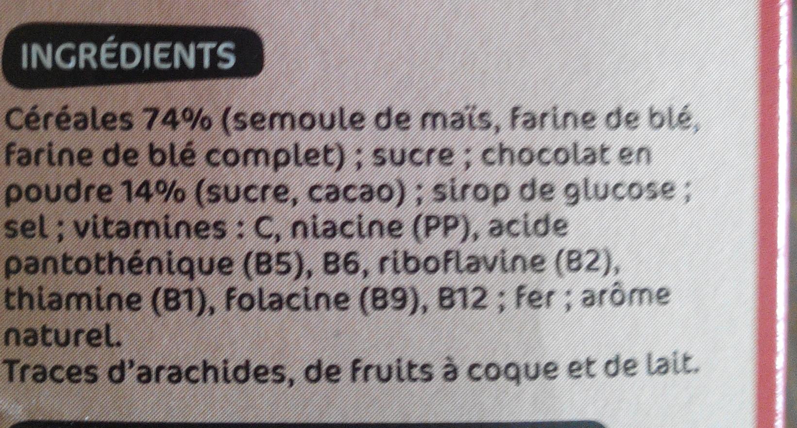 Boules céréales au chocolat - Ingrédients - fr
