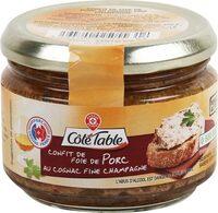Confit de foie de porc fine champagne - Product