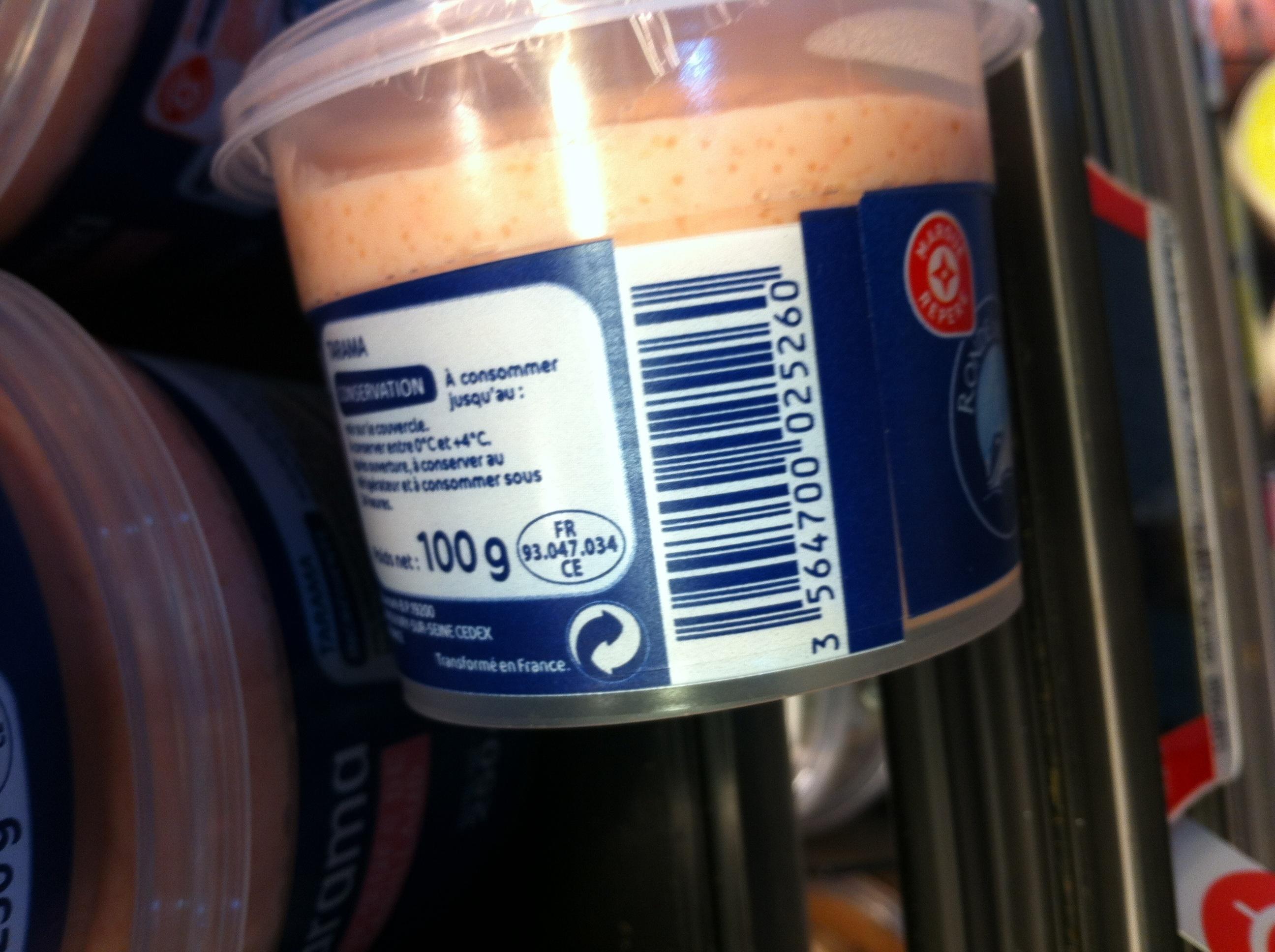 Tarama aux oeufs de cabillaud - Product - en