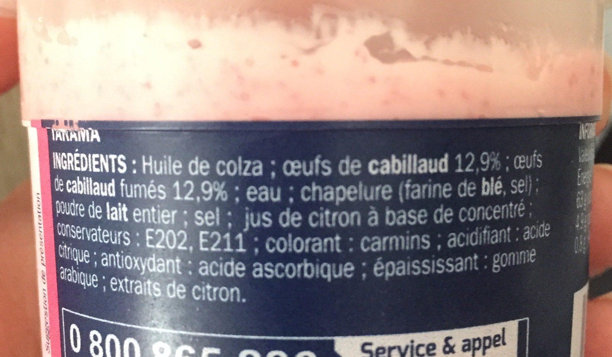 Tarama aux oeufs de cabillaud - Ingredients - en