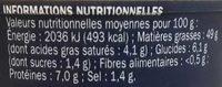 Tarama au saumon fumé - Nutrition facts