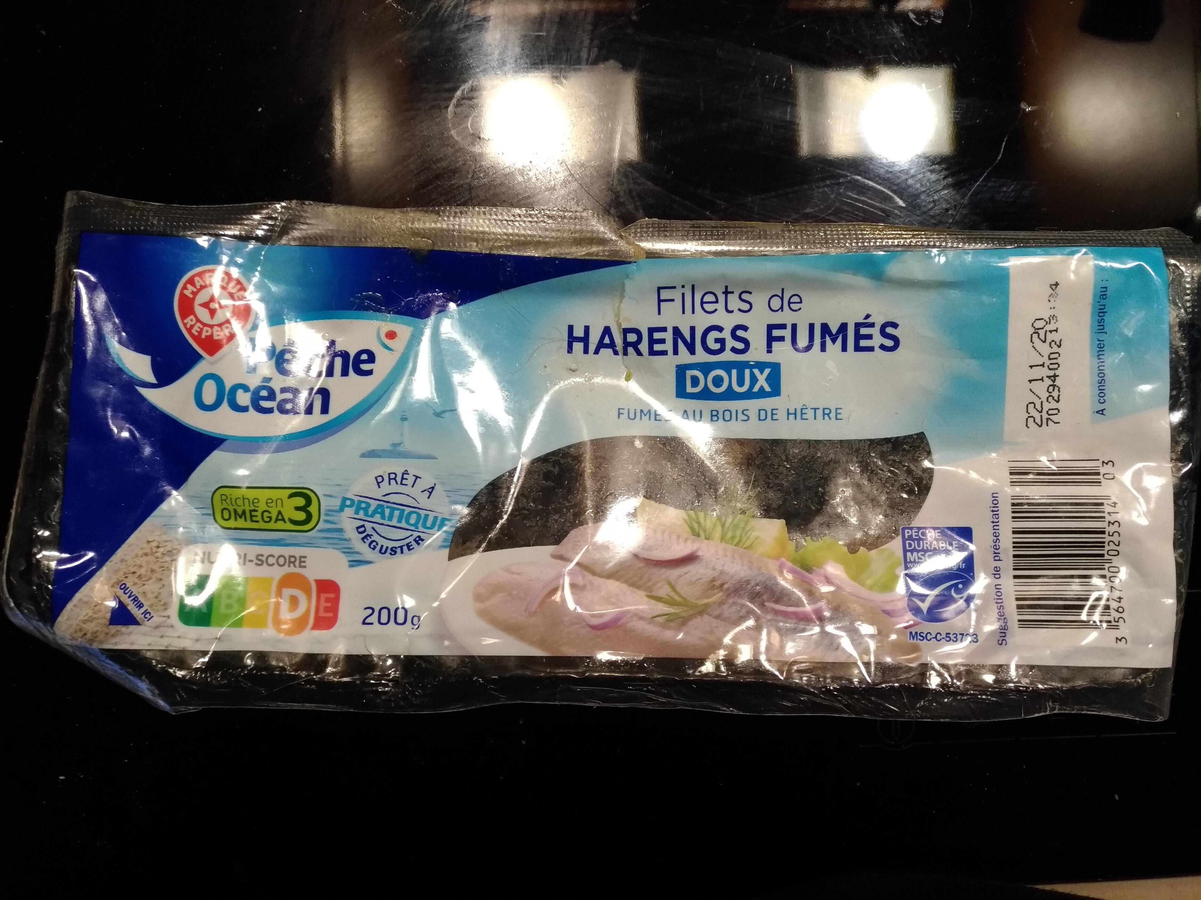 Filets de harengs fumés doux - Produit - fr