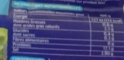 Filets de harengs doux - Nutrition facts - fr