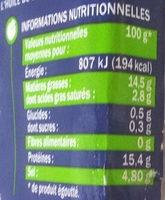 Filets de hareng tout prêts - Informations nutritionnelles - fr