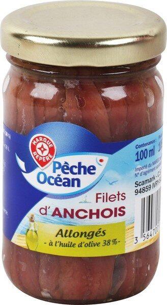 Filets anchois allongés à l'huile d'olive - pot en verre - Product - fr
