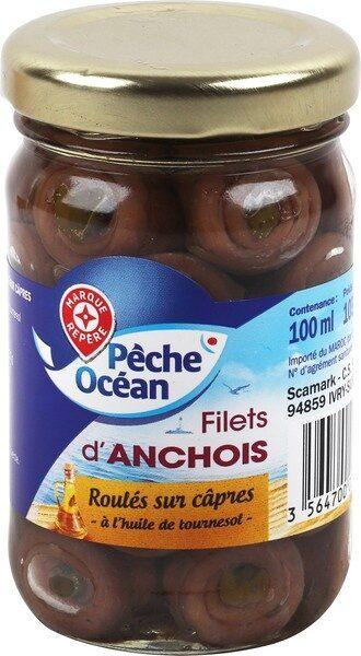 Filets anchois roulés aux câpres - Product