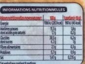 Mini blinis x 16 - Informations nutritionnelles
