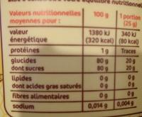 Miel crémeux toutes fleurs - Nutrition facts - fr