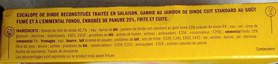 Cordon bleu x 2 - Ingredients